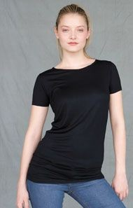 SKINNIFIT TOUCH LONG LINE LADIES TEE SHIRT.
