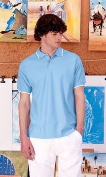 FRUIT OF THE LOOM PREMIUM TIPPED PIQUE POLO SHIRT.