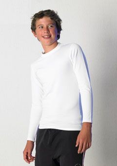 TOMBO TEAMWEAR CHILDRENS LONG SLEEVE COLD BASE LAYER TRAINING TOP.