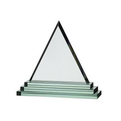 TRIANGULAR JADE GLASS AWARD.