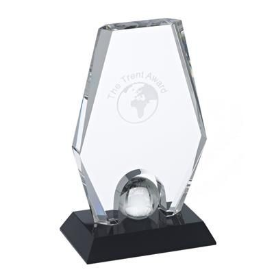 TRENT CRYSTAL GLOBE AWARD in Clear Transparent.