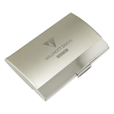 BRENT CARD CASE in Silver.