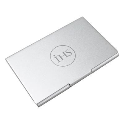 LONDON BUSINESS CARD HOLDER in Silver.