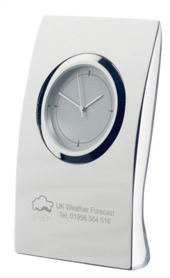 PILLOW CLOCK in Silver.