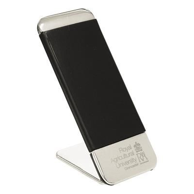 ELEGANCE MOBILE PHONE STAND in Silver & Black.