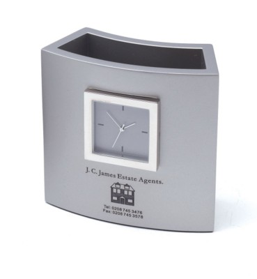 PISA CLOCK in Silver.