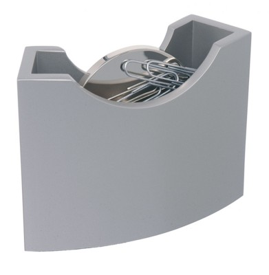 PISA METAL PAPERCLIP DISPENSER in Silver.