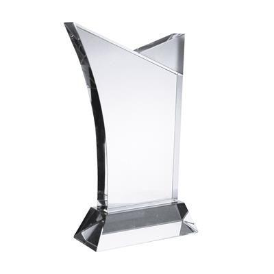 MEDIUM SUFFOLK CRYSTAL AWARD in Clear Transparent.