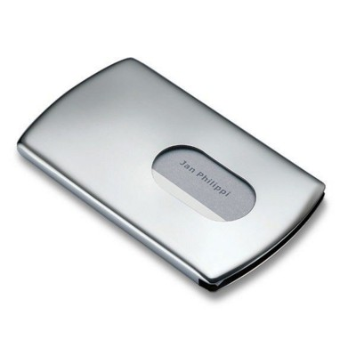 PHILIPPI NIC POCKET METAL BUSINESS CARD HOLDER in Silver Finish.