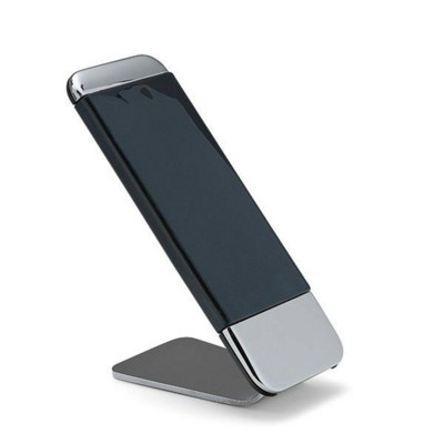 PHILIPPI GRIP MOBILE PHONE STAND in Silver & Black.