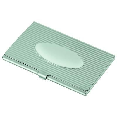 LINEAR BUSINESS CARD HOLDER with Oval.