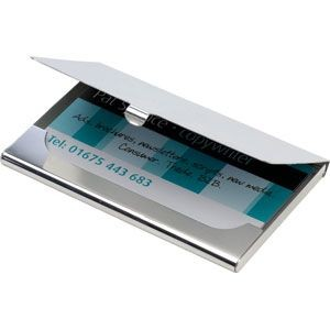 HALLMARKED 925 STERLING SILVER METAL EXECUTIVE BUSINESS CARD HOLDER in Silver.
