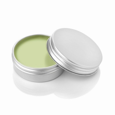 APPLE LIP BALM in Aluminium Metal Tin in Green.