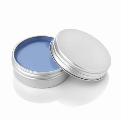 TROPICAL FRUIT LIP BALM in Aluminium Metal Tin in Blue.
