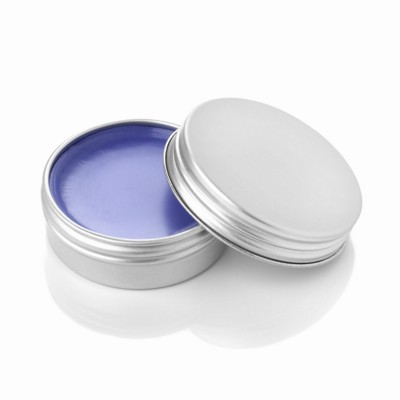 BLACKCURRANT LIP BALM in Aluminium Metal Tin in Purple.