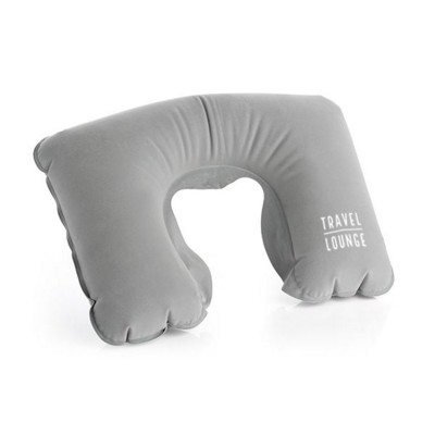 GREY INFLATABLE NECK PILLOW.