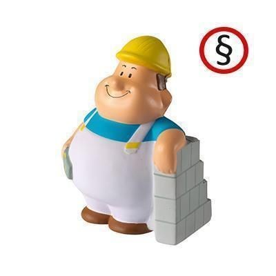 BRICKLAYER BERT SQUEEZIES STRESS ITEM.