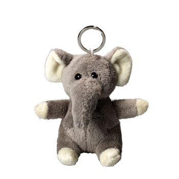 ELEPHANT PLUSH KEYRING.