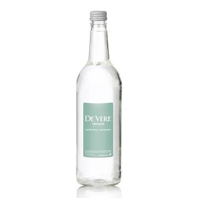 BRANDED 750ML GLASS BOTTLED WATER.