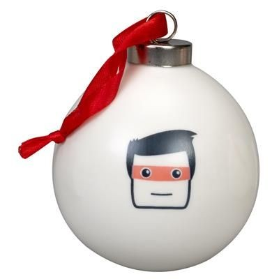 CHRISTMAS TREE BAUBLE in White.