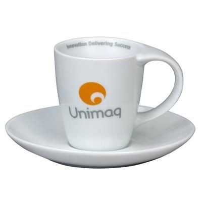 LYNMOUTH EXPRESSO CUP & SAUCER in White.