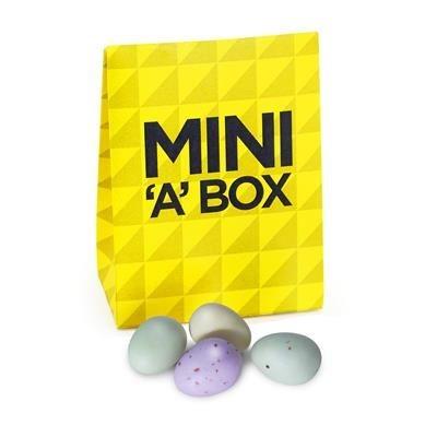 SPECKLED MINI EGGS IN A BOX.