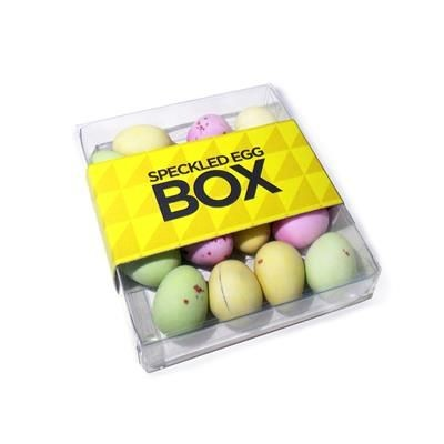 SPECKLED CHOCOLATE EGG BOX.