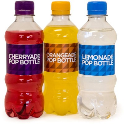 BOTTLE OF POP with CMYK Printed Self Adhesive Label.
