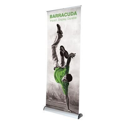 BARRACUDA PULL UP BANNER BLOCKOUT.