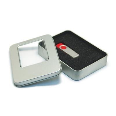 SQUARE METAL TIN FOR USB.