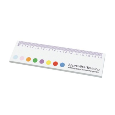STICKY-SMART RULER NOTES.