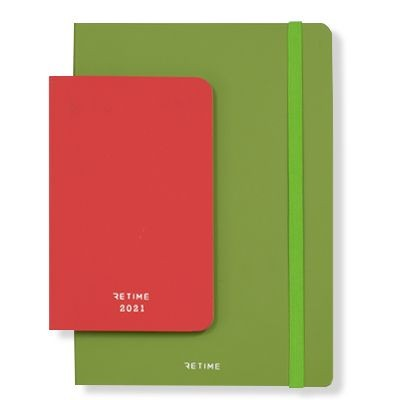 ECO-FRIENDLY ITALIAN BONDED LEATHER BOUND NOTE BOOK - DIARY.