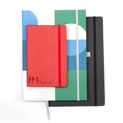 HARD COVER BOUND NOTE BOOK TAKKUINO in Bonded Leather, Balacron PU.