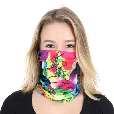 ALL-OVER FULL COLOUR PRINTED BUFF SNOOD.