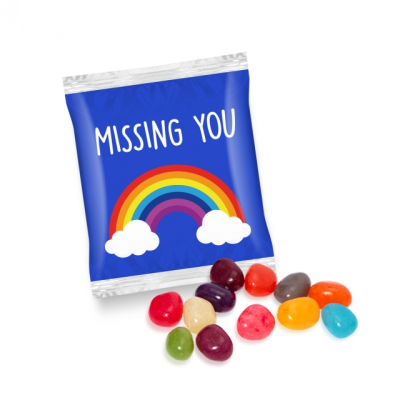 FLOW WRAP BAG with Jelly Beans.