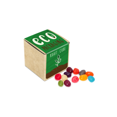 ECO KRAFT CUBE with Jelly Beans Factory Beans.