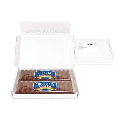 MIDI POST BOX X2 12 BATON CHOCOLATE BARS.