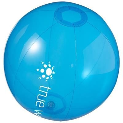IBIZA CLEAR TRANSPARENT BEACH BALL in Clear Transparent Blue.