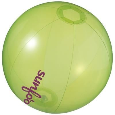 IBIZA CLEAR TRANSPARENT BEACH BALL in Clear Transparent Green.
