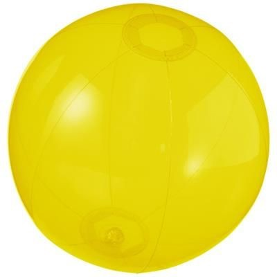 IBIZA CLEAR TRANSPARENT BEACH BALL in Clear Transparent Yellow.