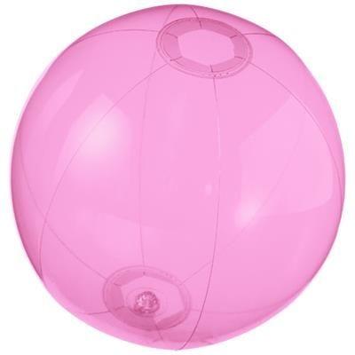 IBIZA CLEAR TRANSPARENT BEACH BALL in Pink.