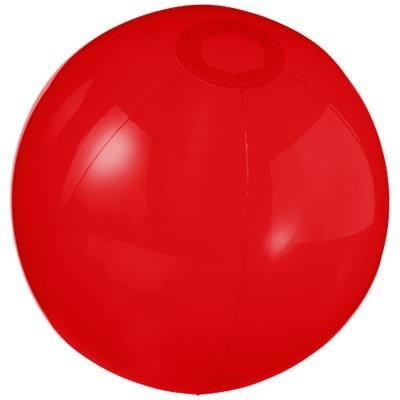 IBIZA CLEAR TRANSPARENT BEACH BALL in Clear Transparent Red.