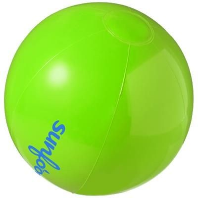 BAHAMAS SOLID BEACH BALL in Green.