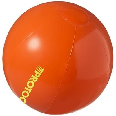 BAHAMAS SOLID BEACH BALL in Orange.