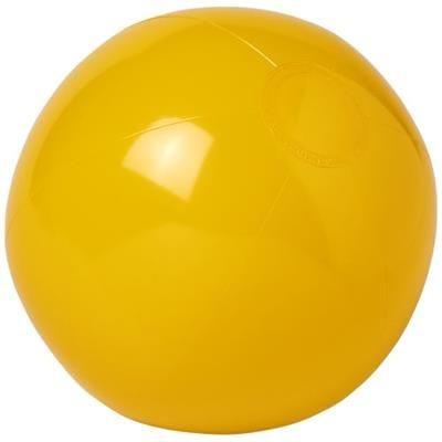 BAHAMAS SOLID BEACH BALL in Yellow.