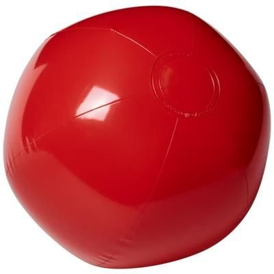 BAHAMAS SOLID BEACH BALL in Red.