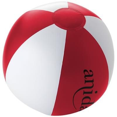 PALMA SOLID BEACH BALL in Red-white Solid.