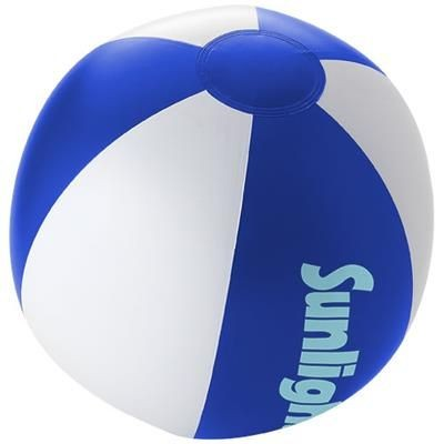 PALMA SOLID BEACH BALL in Royal Blue-white Solid.