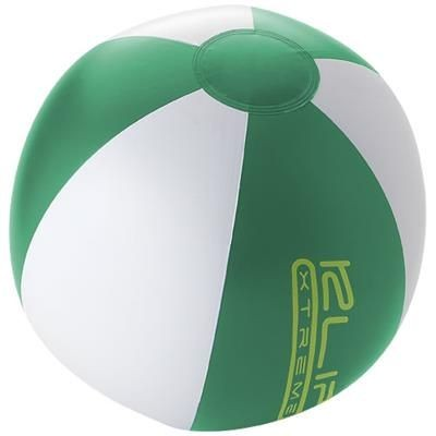 PALMA SOLID BEACH BALL in Green-white Solid.