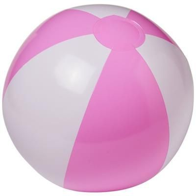 PALMA SOLID BEACH BALL in White Solid-pink.